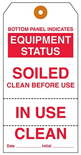 - MedValue Equipment Clean Status Tag, 6-1/4