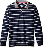Tommy Hilfiger Boys' Little Stripe Half Zip Sueded Jersey Sweater, Swim Navy, 5