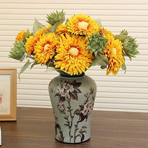 Mountain head アメリカの牧歌的な国の装飾花瓶ヨーロッパのレトロな中国風のセラミック花瓶テーブルのコーヒーテーブルの家の装飾 Mountain head B07QDX433G