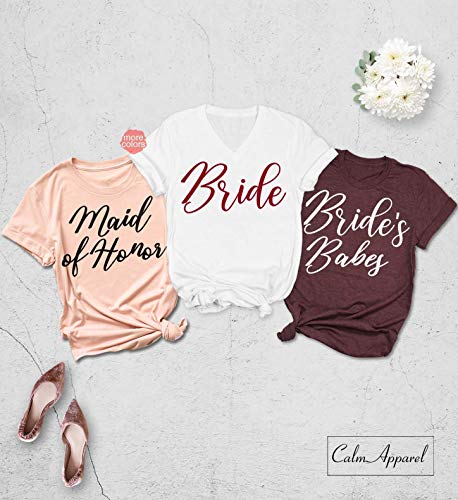 Bachelorette Party Shirt, Bridesmaid Shirts, Wedding Proposal Shirts, Bride Squad Tank Tops, Bridal Party T Shirt