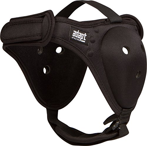 Adapt Athletics Enhanced Headgear for Wrestling, BJJ, MMA Ear Protection: Extra Strong Stitching, Comfortable Chin Strap, Antimicrobial, New Easy to Adjust Design One Size Fits Most (Black)