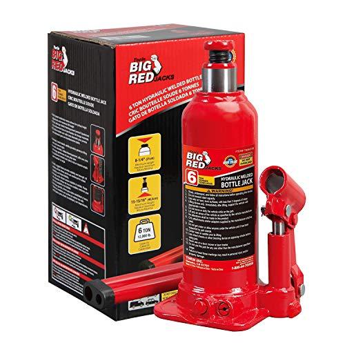 BIG RED T90603B Torin Hydraulic Welded Bottle Jack, 6 Ton (12,000 lb) Capacity