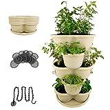 Stackable Planter Vertical Garden for Growing Flowers Vegetables Indoor Outdoor