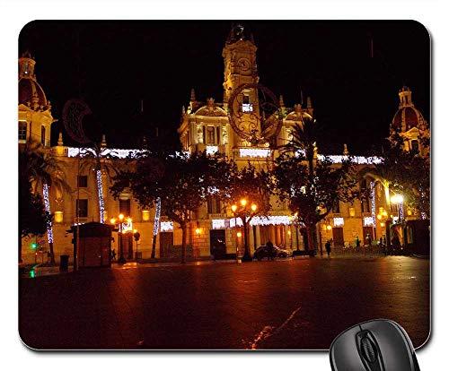 - Mouse Pads - Valencia Spain Night Evening Lights Lighting
