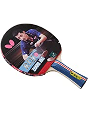 Butterfly Unisex-Adult Butterfly RDJ S2 Table Tennis Racket – ITTF Approved Butterfly Ping Pong Paddle – Great Spin, Speed, and Control Ping Pong Racket RDJS2, Red and Black, Standard