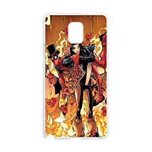 Deadpool Comic Samsung Galaxy Note 4 Cell Phone Case White Customized Toy pxf005_9694821