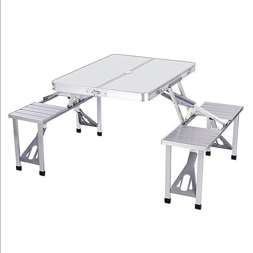 WangYi Mesa Plegable- Portátil Plegable de Aluminio Mesa y Silla ...