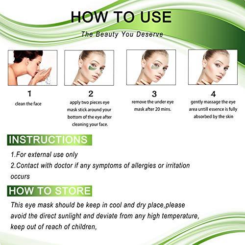51t62iPxnaL - Chlorella Anti-Aging Collagen Eye Treatment Mask Eye Pads,Effectively Remove Fine Lines Eliminate Edema Eye Bag Reduce Dark Circles,Deeply Hydrating Eye Skin(30 Pairs/60 Pcs)