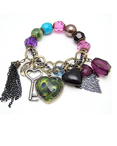 Young & Forever Women's Valentine Gifts Special Diwali Gifts Special Peacock Beads Bracelet by Young & Forever