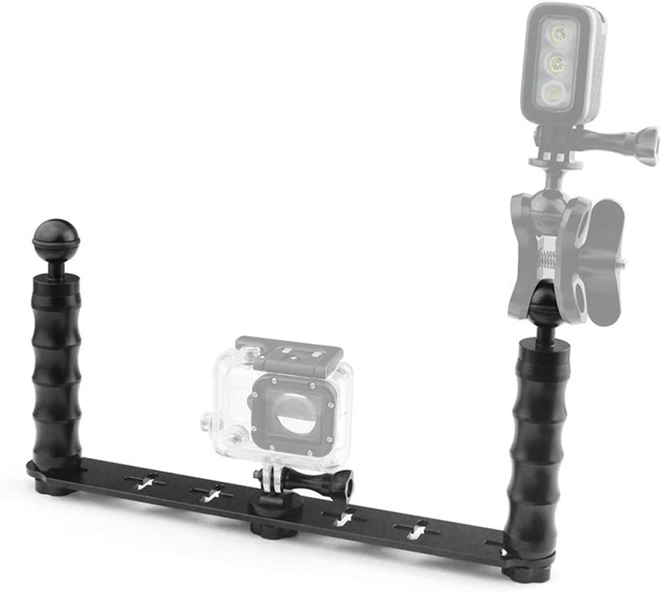 Almencla Diving Dual Ball Head Handheld Underwater Stabilizer Tray for Hero 6 5