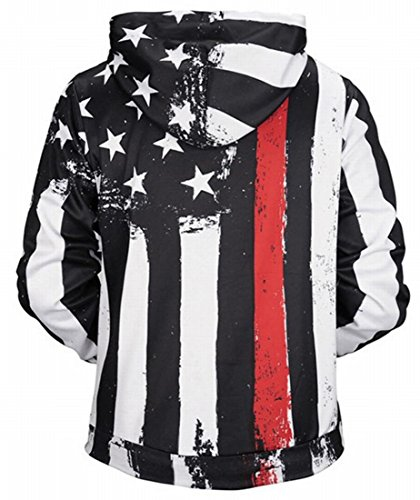 Mens Bandiera 1 Lunga Felpa amp; Americana S W M Hoodie amp; Manica wnZa4Cxxq7