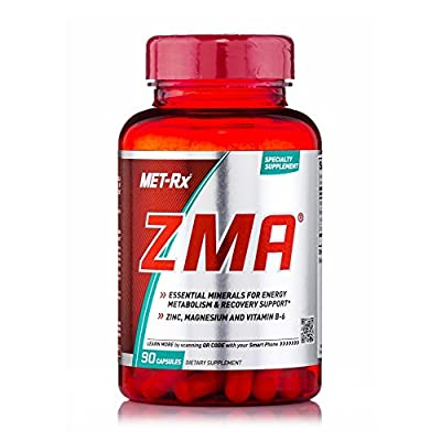 MET-Rx ZMA is a specialty supplement that provides you with highly bioavailable forms of Magnesium and Zinc, including Zinc L-Monomethionine (L-OptiZinc). These essential minerals each deliver a unique benefit – Zinc contributes to energy metabolism...