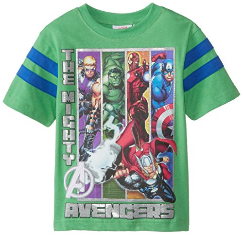 Marvel Little Boys' The Mighty Avengers T-Shirt, Green, 4