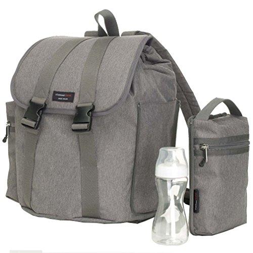 Storksak Backpack, Grey - Stork Sack Diaper Bags