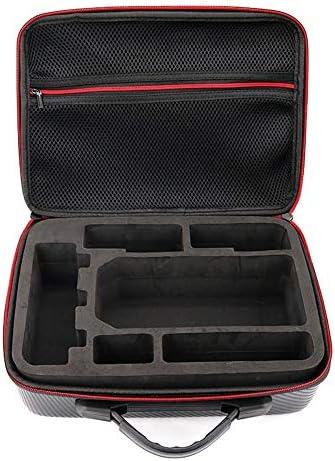 HONGYI PU Carbon Grain Backpack Hard Portable Bag Shoulder Storage Bag Water-Resistant Portable for DJI Mavic Pro Carrying Case / HONGYI PU Carbon Grain Backpack Hard Portable Bag Shoulder Storage Bag Water-Resistant Portable for D...