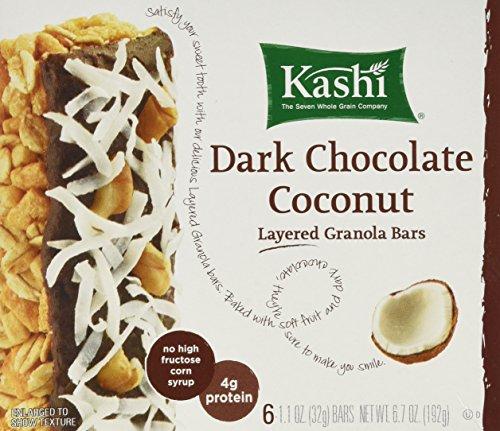 Kashi Dark Chocolate Coconut Layered Granola Bar 6 per box ( 4 PACK)