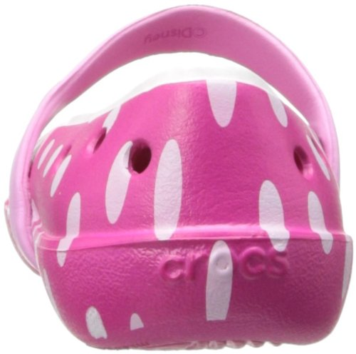 Crocs Keeley Minnie Flat (Toddler/Little Kid),Candy Pink/Carnation,11 M US Little Kid by Crocs (Image #2)