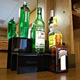 KegWorks 2 Tier Liquor Bottle Step Shelf – Black Acylic – 18 Inches Long Review