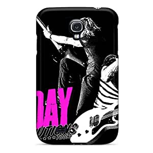 Shockproof Cell-phone Hard Covers For Samsung Galaxy S4 With Allow Personal Design Trendy Green Day Band Pattern KennethKaczmarek