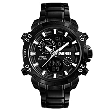 V2A Analogue and Digital Men's Watch - SKM-1306-Black