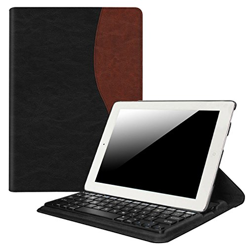 Fintie iPad 2/3/4 Keyboard Case - 360 Degree Rotating Stand Cover with Built-in Wireless Bluetooth Keyboard for Apple iPad 2