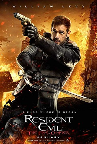 Resident Evil  The Final Chapter Movie Poster 11 X 17 Ruby Rose  Milla Jovovich  G  Made In The U S A