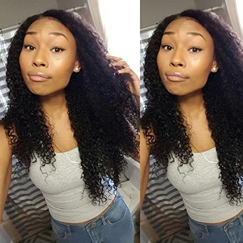 - Afro KInky Curly 360 Lace Wig with Natural Hairline and High Ponytail Brazilian Virgin 360 Lace Frontal Human Hair Wigs for Women 150% Extra Heavy Density Natural Color 18