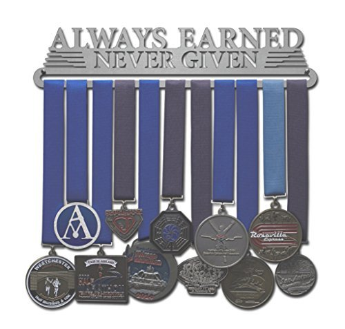 Allied Medal Hangers - Always Earned Never Given (Compact) (12 Wide with 1 Hang bar)