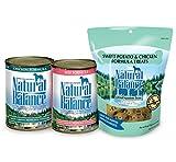 Natural Balance Ultra Premium Beef Formula & Chicken Formula Wet Dog Food Bundle, Plus Limited Ingredient Sweet Potato & Chicken Formula Dog Treats