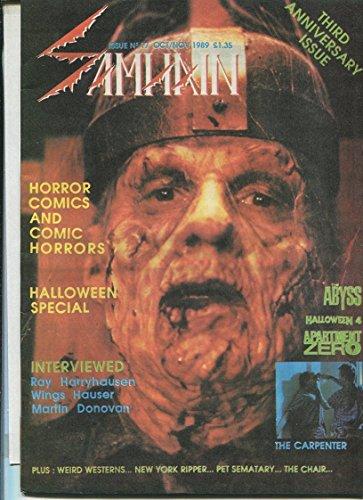Samhain #17 Oct/Nov 1989 Abyss Halloween rare horror fanzine MBX73 ()