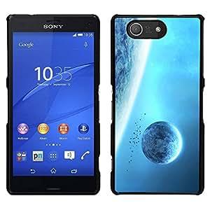 EJOY---Cubierta de la caja de protección para la piel dura ** Sony Xperia Z3 Compact ** --Azul planetas gigantes Espacio Cielo universo de Alien