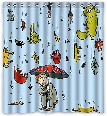 Amazon Fashion Custom Raining Cats And Dogs Waterproof