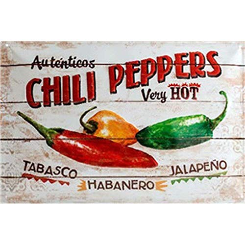 Tin speaking Tin Metal Signs Wall Plaques Metal Picture Prints Chili Peppers Retro Posters Decorations Bar Club Wall Home Wall Stickers Restaurant,Dining Hall
