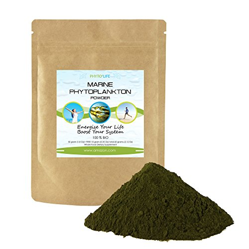 Marine Phytoplankton Superfood Powder 50 Grams  1 8 Oz    Free 10 Grams  0 35 Oz    Epa  Antioxidants   Minerals   Natural Superfood Nutritional Supplement With Omega 3 Fatty Acids