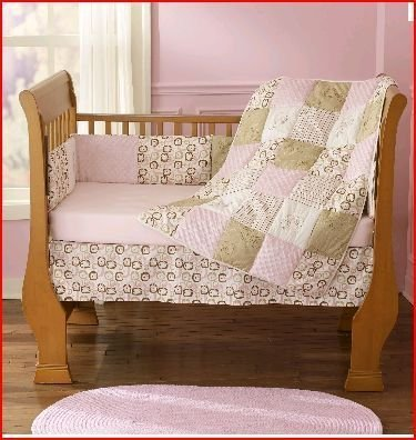 Step by Step Contempo 4 Piece Crib Set- Pink & Brown by PEM America, Inc