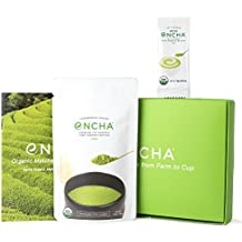 Encha Organic Matcha (Ceremonial-Grade, Premium 1st Harvest, Ground from the Most Tender Leaves, Directly from the Farm in Japan, USDA-Certified, 30g/1.06oz)
