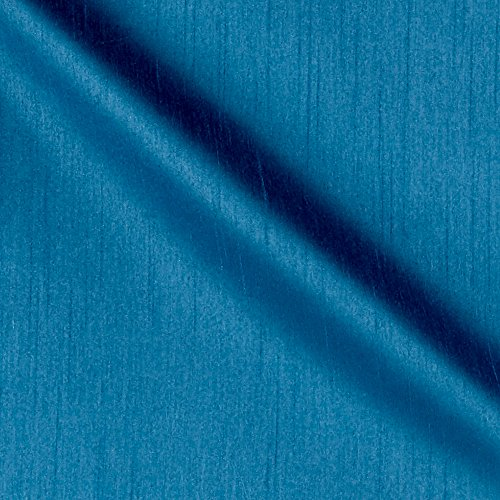 Blue Dupioni Silk (Worldly Faux Dupioni Silk Azure Fabric By The Yard)