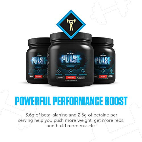 LEGION Pulse, Best Natural Pre Workout Supplement for Women and Men - Powerful Nitric Oxide Pre Workout, Effective Pre Workout for Weight Loss, Top Pre Workout Energy Powder, Watermelon, 1.15lbs