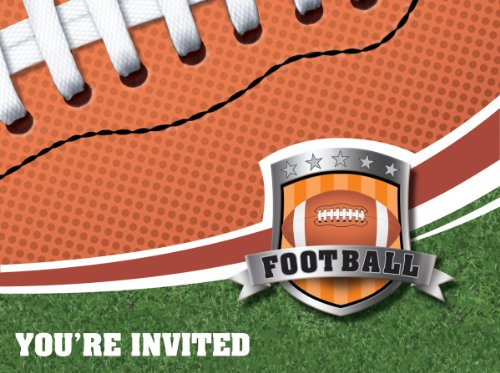 8-Count Party Invitations, Football