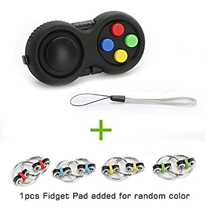 UNI-Novelty Fidget Pad and Fidget Chain for ADD, ADHD, Anxiety, and Autism Adult Children(colorful)