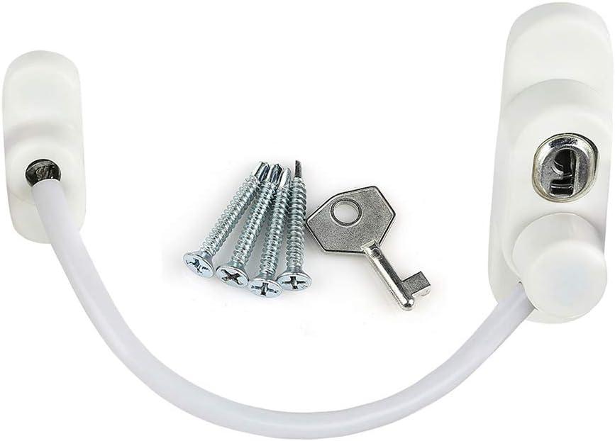 Embellecedor para ventana de seguridad de plástico PVC para puerta sin taladrar, color blanco: Amazon.es: Bricolaje y herramientas