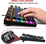 Mechanical Keyboard 87 Keys Small Compact