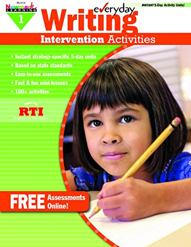 - Everyday Intervention Activities for Writing Grade 1 Book (Eia)