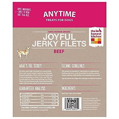 The Honest Kitchen Joyful Jerky: Natural Human Grade Dehydrated Jerky Dog Treats