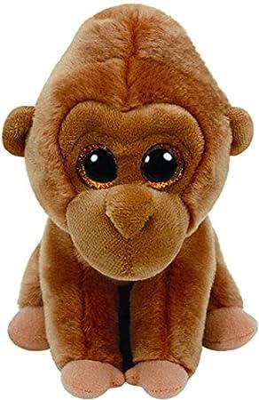 Ty - Beanie Babies Monroe, Gorila, 15 cm, Color marrón (United Labels