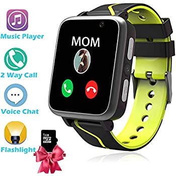 Kids Smart Watch Phone - MP3 Player Music Watch [1GB Micro SD Included] Kids Game Smartwatch 2 Way Call Alarm Clock Games Camera Wrist Watch for Boys Girls ...