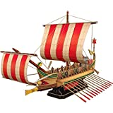 CubicFun 3D Puzzles Viking Ship Sailboat Model Kits for Adults and Teens Toys, Large Roman Warship Vessel, 218 Pieces