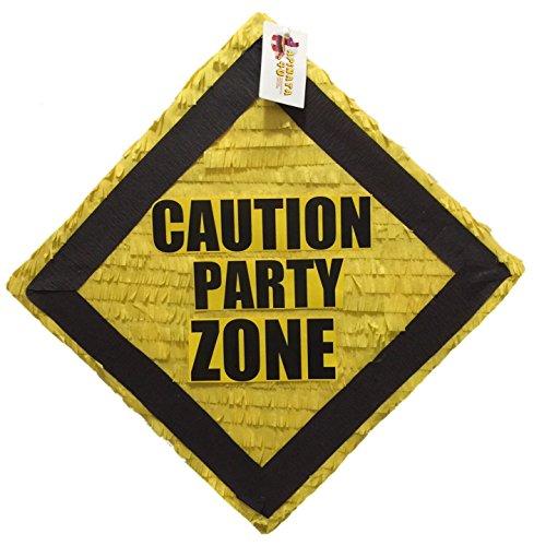 APINATA4U Construction Theme Pinata Caution Party Zone Pinata -