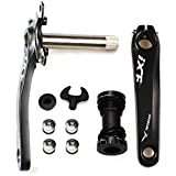 Litetop Bike Crank Arm Set Mountain Bike Crank Arm Set 175mm 104 BCD with Bottom Bracket Kit and Chainring Bolts for MTB BMX Road Bicyle, Compatible with Shimano, FSA (1 Pair)