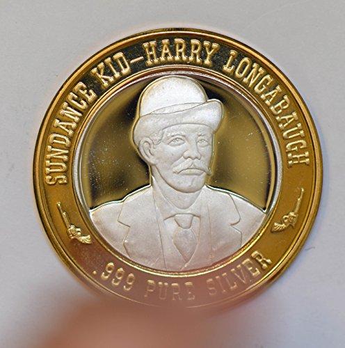IE BU0341 US casino chip token sundance kid-harry longabaugh silver DE PO-01